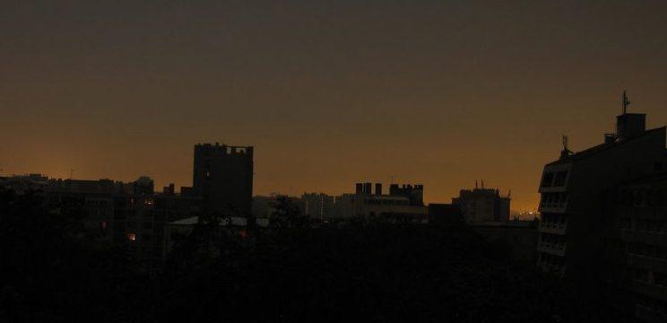 Image of a city blackout.